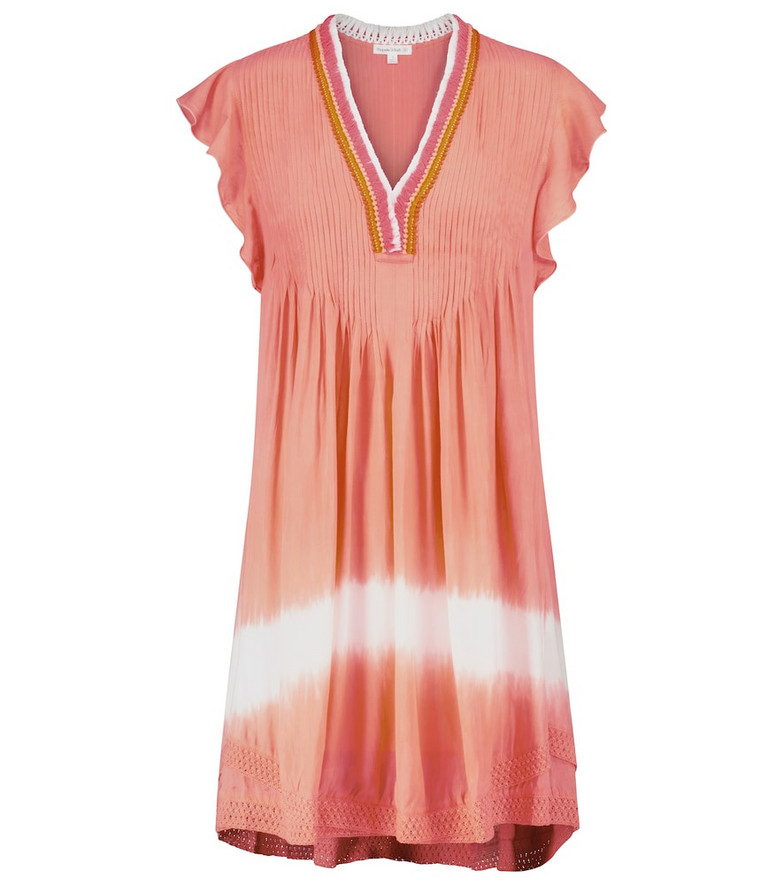 Poupette St Barth Exclusive to Mytheresa – Sasha fringed and tie-dye minidress in orange