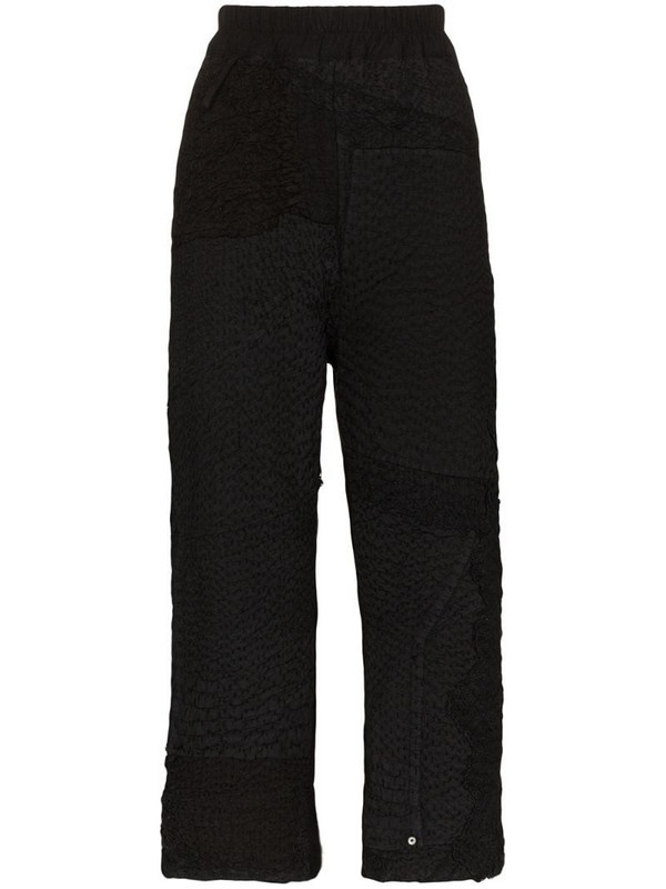 By Walid Jenny cropped trousers in black