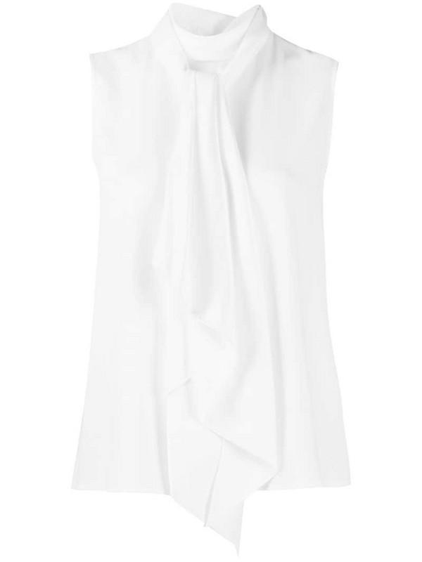 Paule Ka sleeveless roll neck top in white