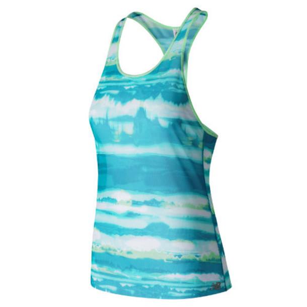 New Balance 71233 Women's Mesh Tank - Blue/White (WT71233DOW)