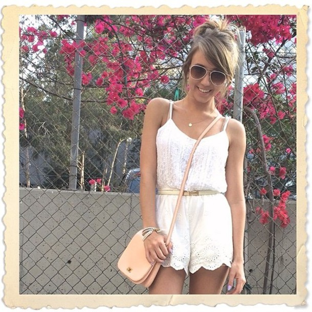 romper jumpsuit summer sandals cute bag open-toe beige strappy