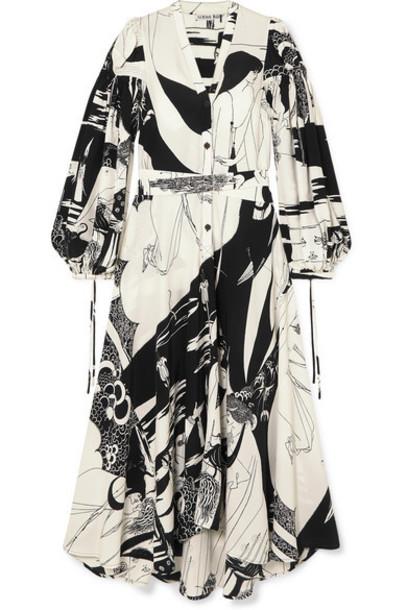 Loewe - Printed Crepe Maxi Dress - Black