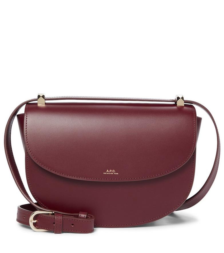 A.P.C. Genève leather shoulder bag in red