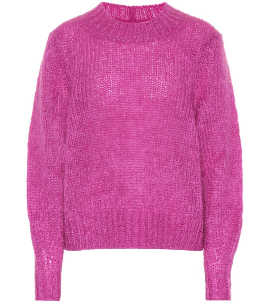 Isabel Marant Ivah mohair and wool-blend sweater in purple