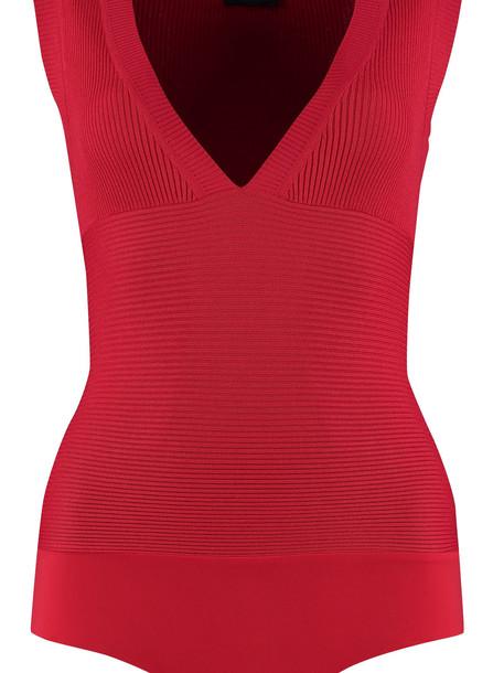 Elisabetta Franchi Celyn B. Elisabetta Franchi Celyn B. Sleeveless Bodysuit in red