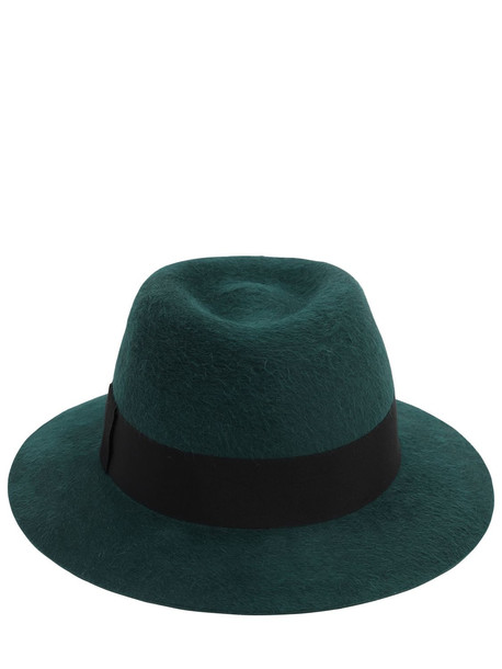 SAINT LAURENT Chapo Fedora Felted Lapin Hat in green