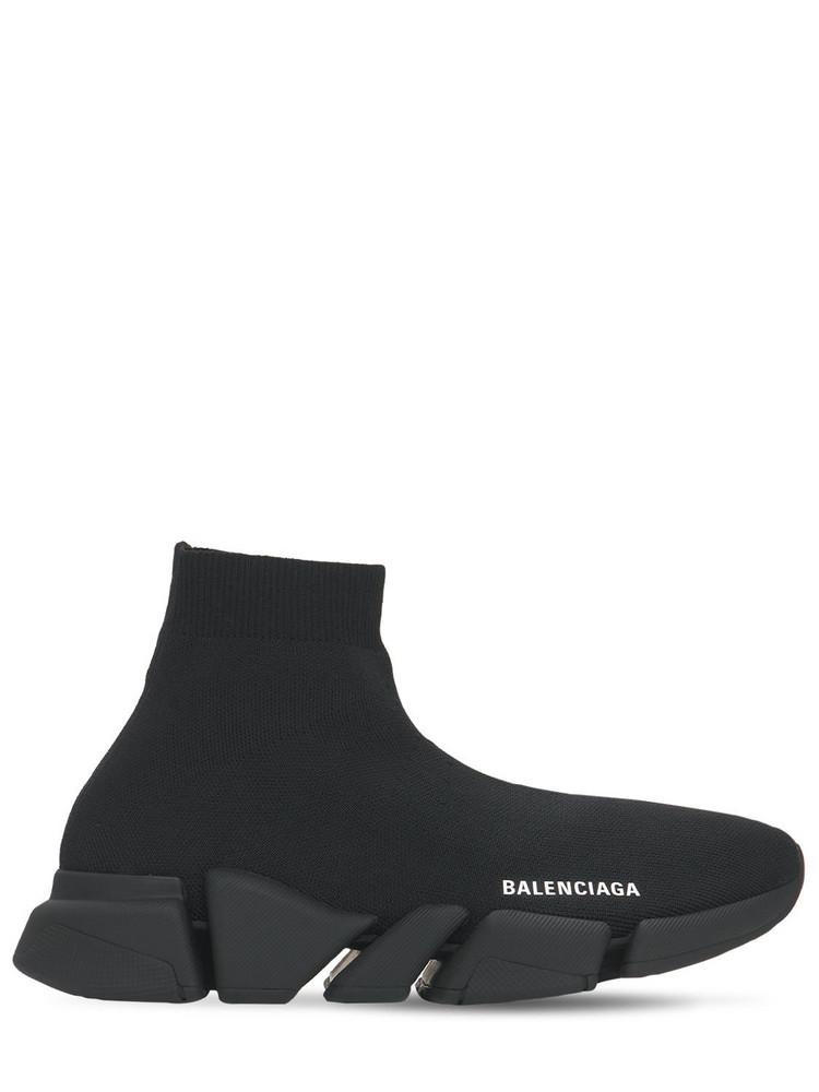 BALENCIAGA 30mm Speed 2.0 Lt Knit Sneakers in black