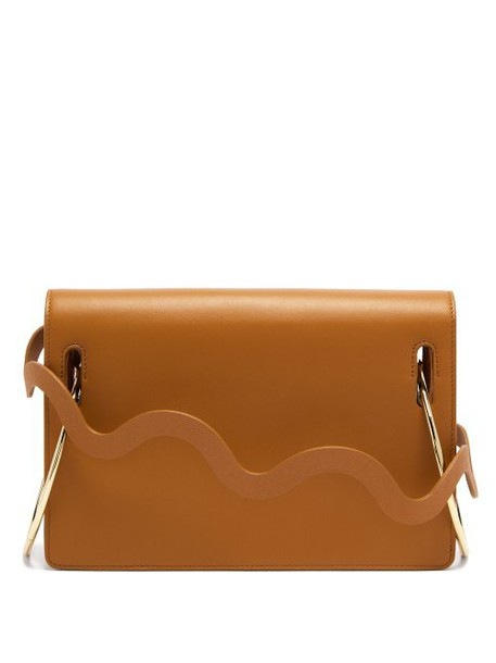 Roksanda - Dora Wave Strap Leather Shoulder Bag - Womens - Tan