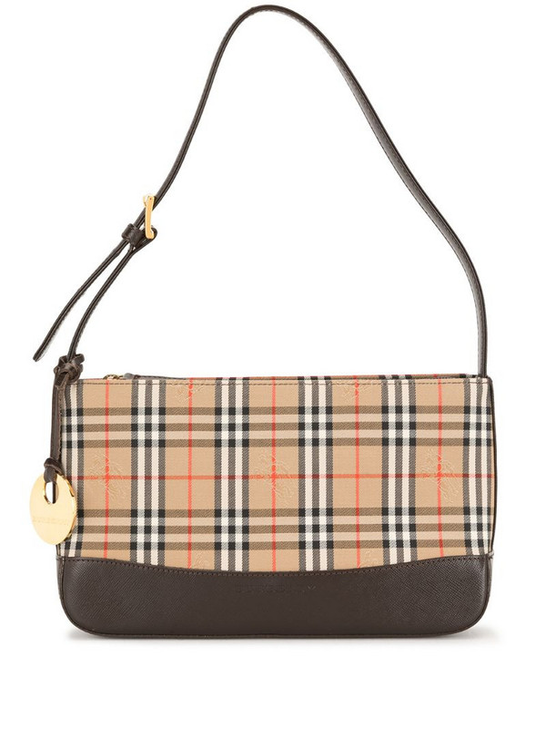 Burberry Pre-Owned horse check shoulder bag in brown