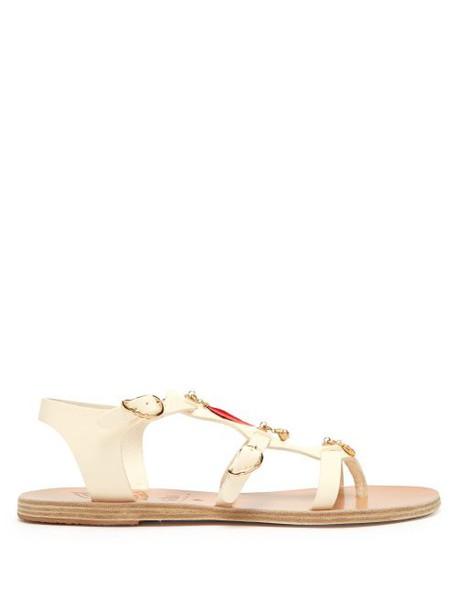 Ancient Greek Sandals - X Gas Bijoux Grace Kelly Leather Sandals - Womens - White