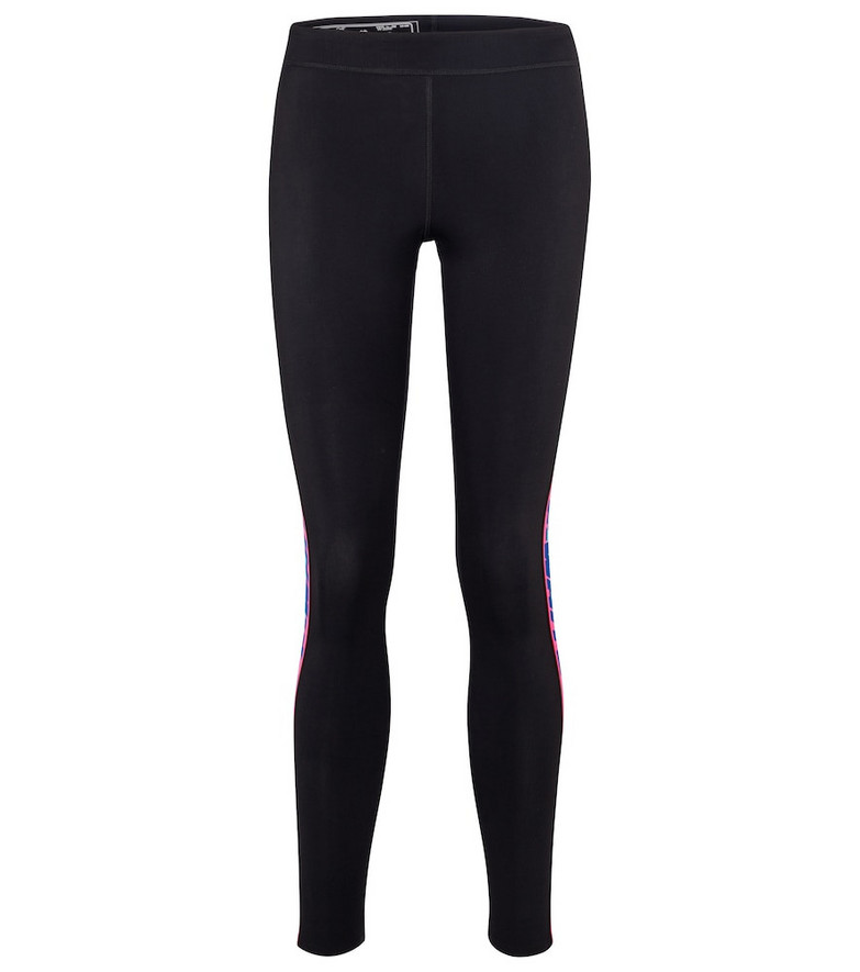 Off-White Logo stretch-jersey leggings in black