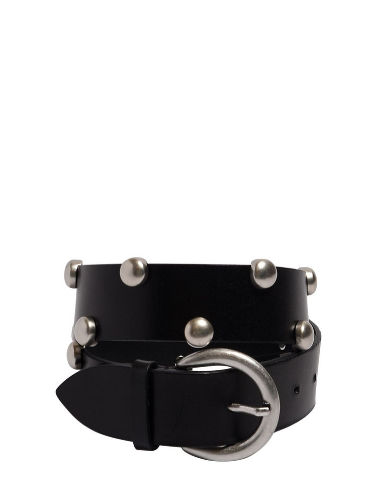 ISABEL MARANT 40mm Goby Leather Belt in black