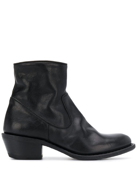 Fiorentini + Baker mid-heel ankle boots in black