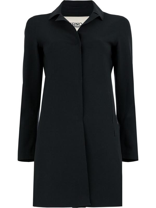 Herno plain car coat in black