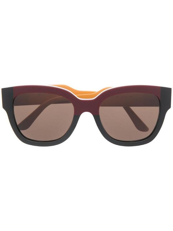 Marni Eyewear wayfarer-frame sunglasses in yellow