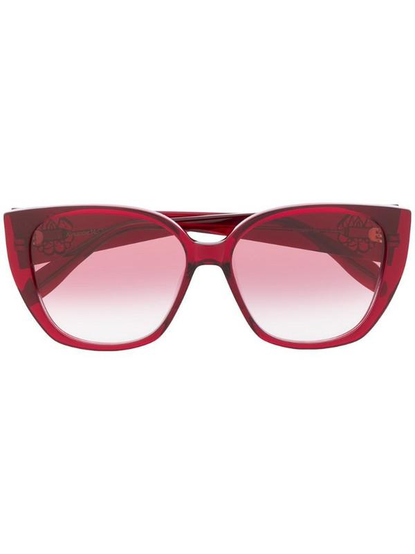 Alexander McQueen Eyewear cat eye frame gradient sunglasses in red