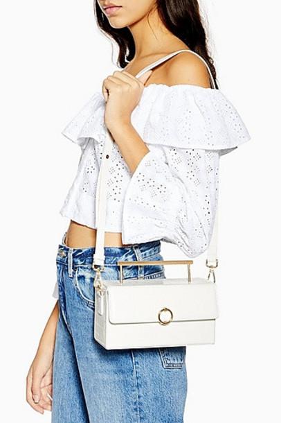 Topshop Coro Boxy Grab Bag - White