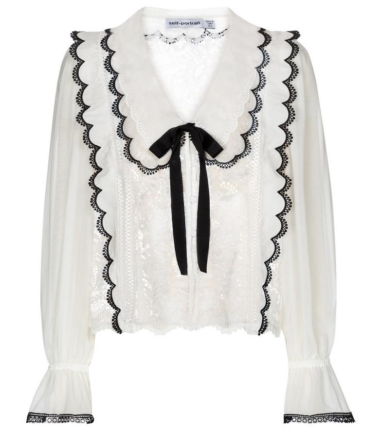 Self-Portrait Lace blouse in white