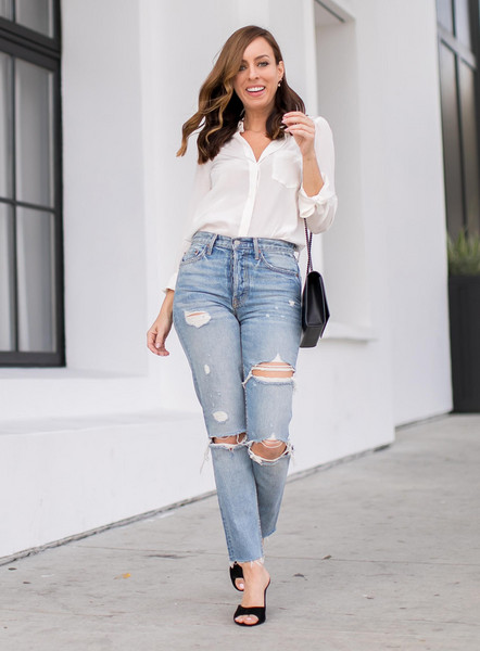 sydne summer's fashion reviews & style tips blogger shirt jeans shoes bag