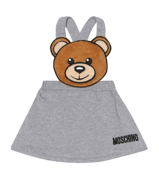 Moschino Kids Baby stretch-cotton pinafore dress in grey