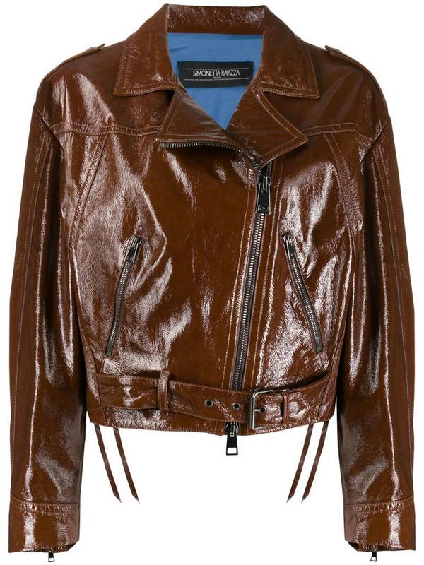 Simonetta Ravizza Wendy boxy fit jacket in brown