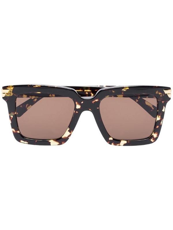 Bottega Veneta Eyewear square-frame sunglasses in brown