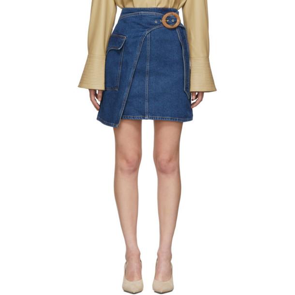 Nanushka Indigo Denim Yeva Miniskirt