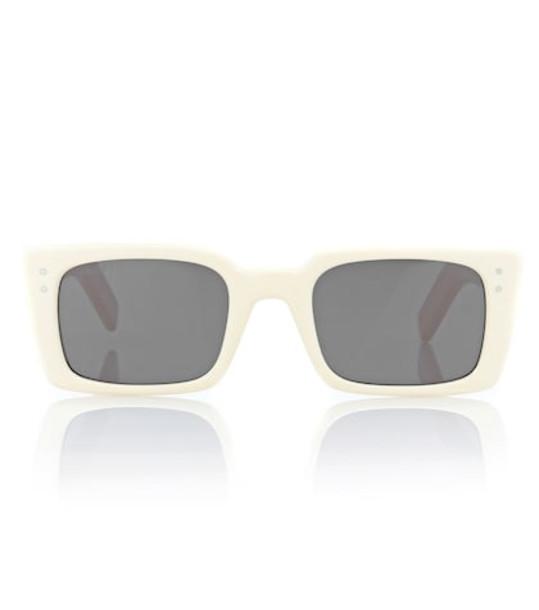 Gucci Rectangular acetate sunglasses in white
