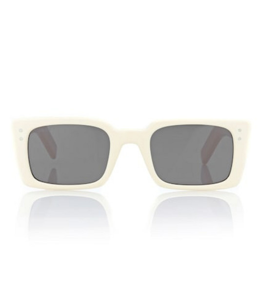 Gucci Rectangular acetate sunglasses in white