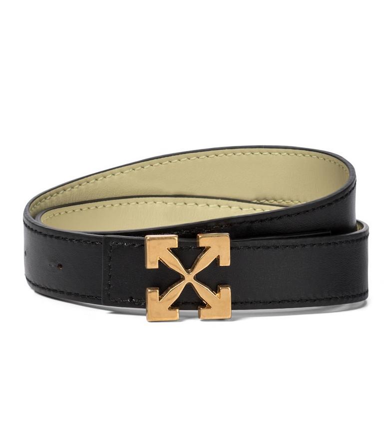 Off-White Arrow leather belt in black