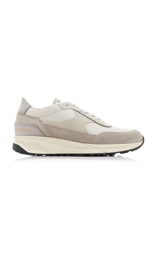 Common Projects Track Classic Suede, Nubuck and Nylon Sneakers in grey