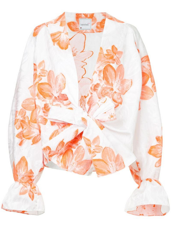 Bambah floral kimono shirt in white