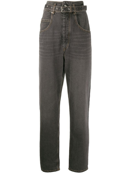 Isabel Marant Étoile Gloria high waisted tapered jeans in black