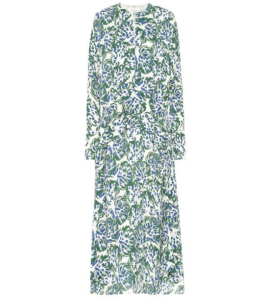 Victoria Victoria Beckham Printed crêpe midi dress in green