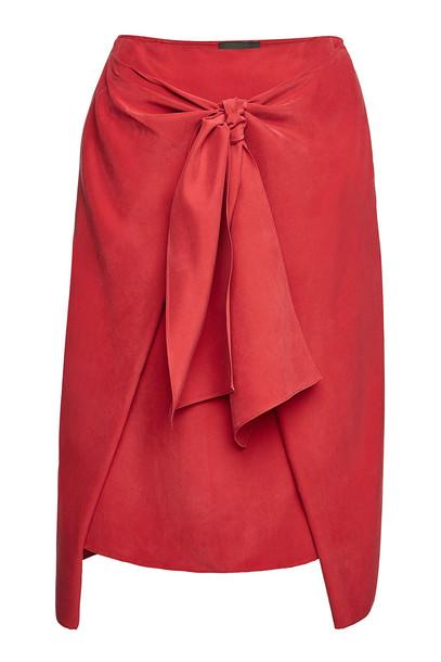 Joseph Clive Fuji Silk Skirt  in red