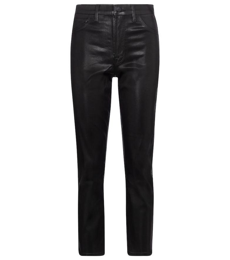 J Brand Alma high-rise straight pants in black