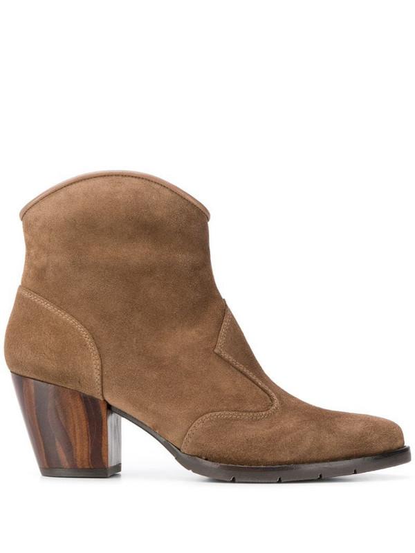 Chie Mihara Salie cuban heel boots in neutrals