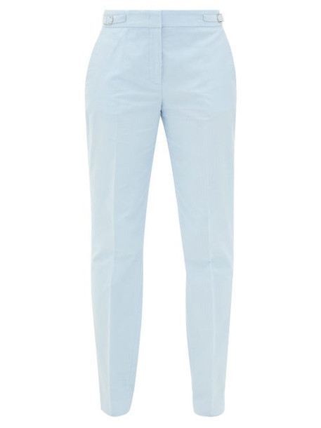 Gabriela Hearst - Isabel Cotton-corduroy Slim-leg Trousers - Womens - Light Blue