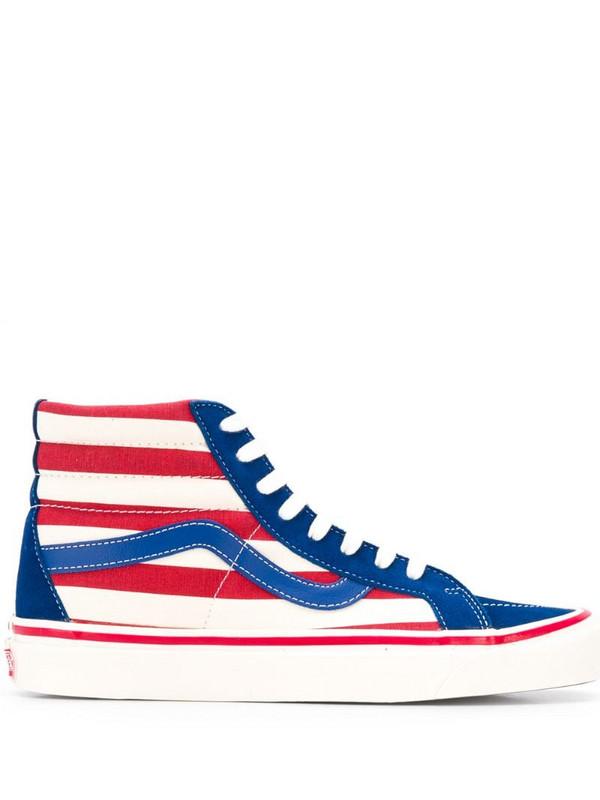 Vans ankle striped sneakers in blue
