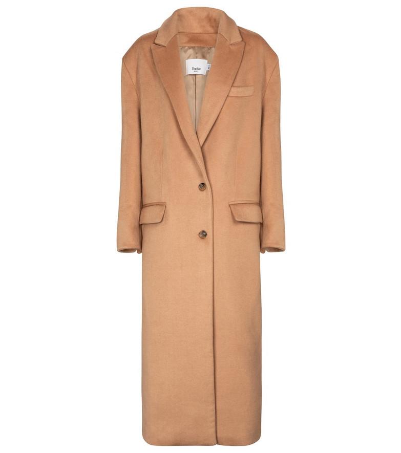 Frankie Shop Wool-blend coat in brown