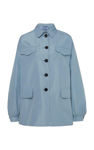 Prada Hooded Silk Jacket in navy