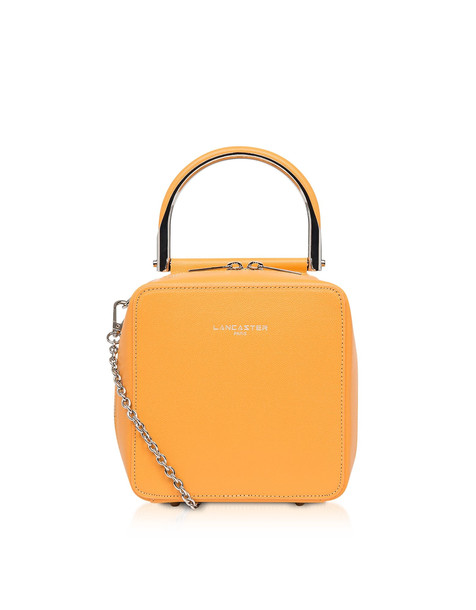 Lancaster Paris Caviar Bonnie Small Box Bag in saffron
