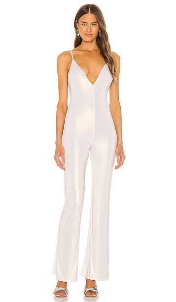 h:ours Elrow Jumpsuit in Metallic Neutral