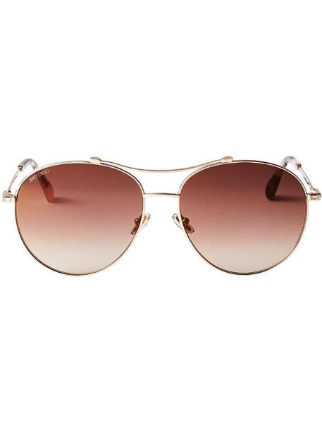 Jimmy Choo Eyewear Vina aviator-frame sunglasses in brown