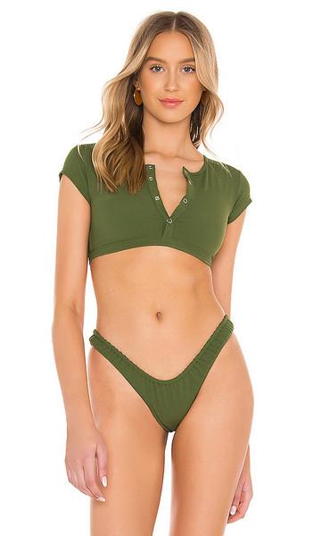 VDM Indie Bikini Top in Green in khaki