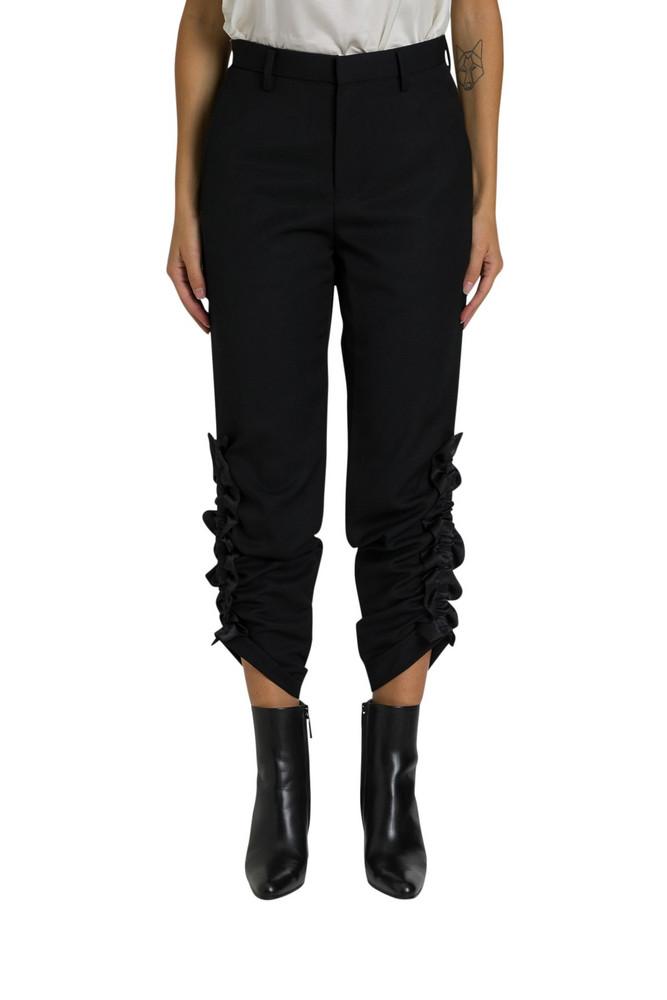 Noir Kei Ninomiya Crinkled Trousers in nero
