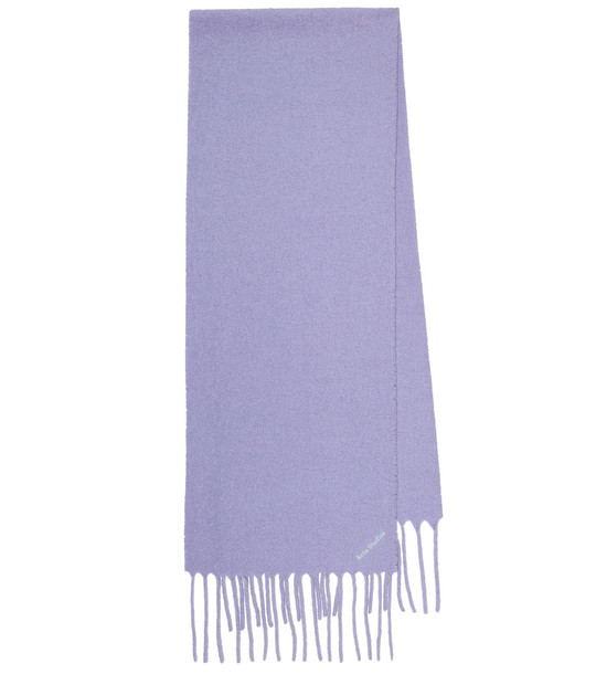Acne Studios Villy wool-blend scarf in purple