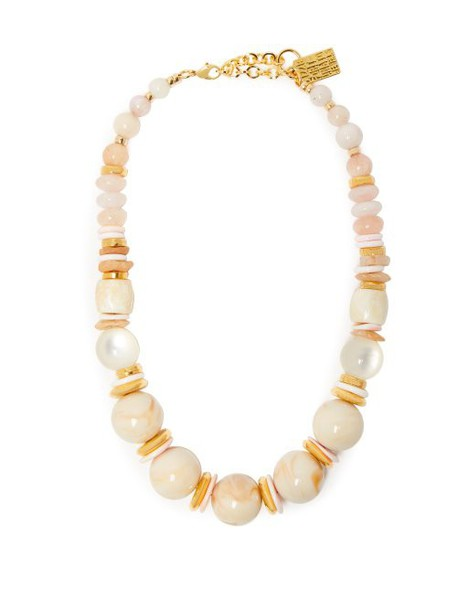 Lizzie Fortunato - Quarry 18kt Gold Plated Necklace - Womens - Pink