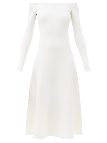 Gabriela Hearst - Gurshka Off-the-shoulder Cashmere-blend Midi Dress - Womens - Ivory
