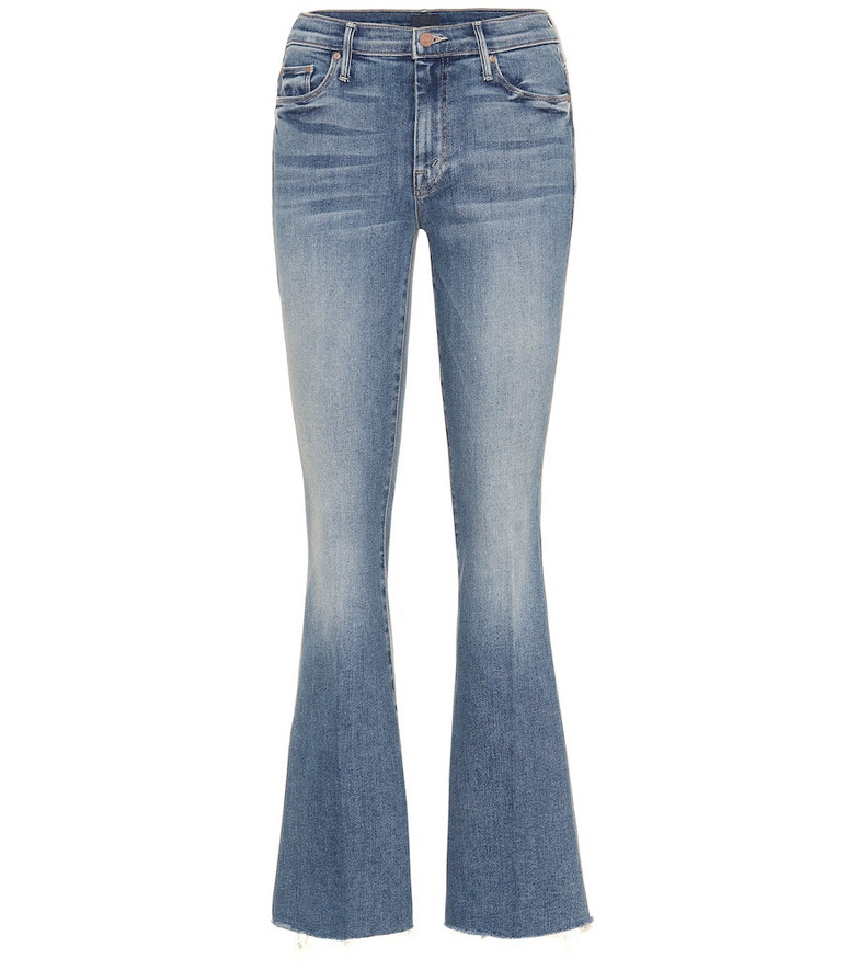Mother The Weekender high-rise flared jeans in blue
